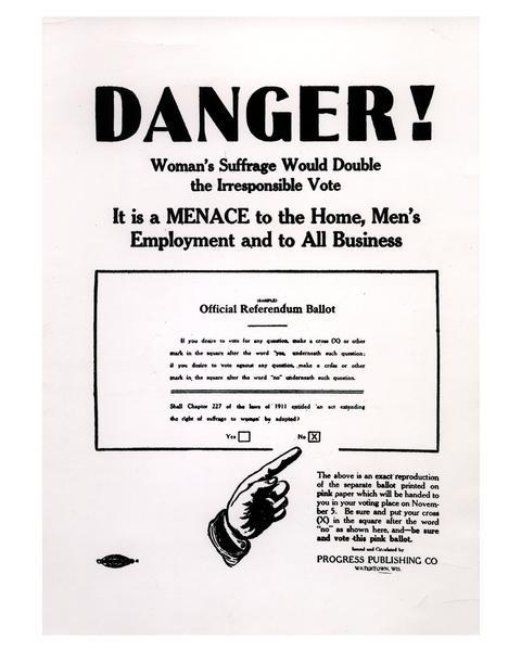 Anti-Woman Suffrage Poster